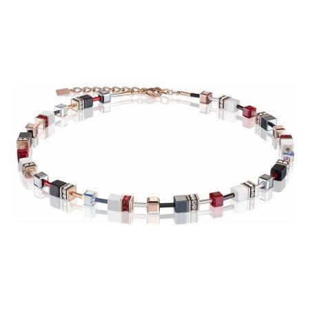 Coeur De Lion Geo Cube Red, Gold & White Bracelet