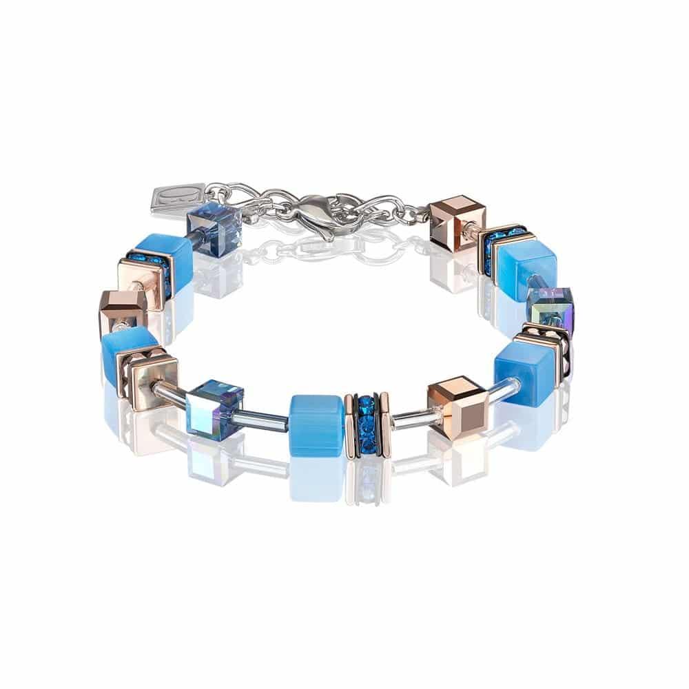 Blue & Rose Gold Necklace