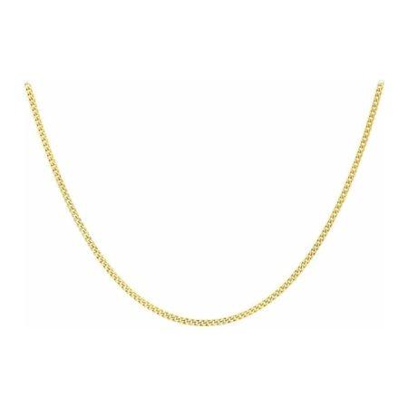 Yellow Gold Diamond Cut Curb Chain