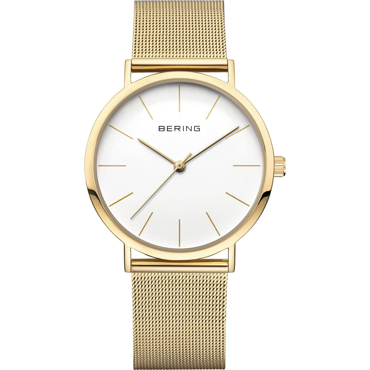 Bering Classic Polished Gold Watch 13436-334