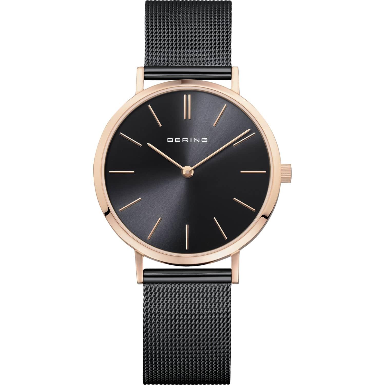 Bering Ladies Black & Rose Gold Classic Watch 14134-166