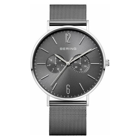 Bering Mens Classic Polished Grey Watch 14240-308