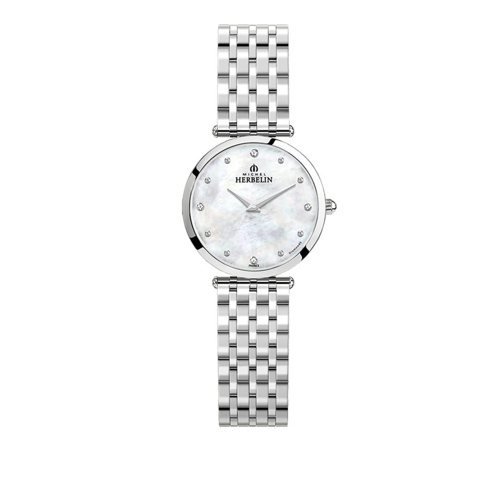 Michel Herbelin Ladies Yellow Extra Flat Epsilon Bracelet Watch