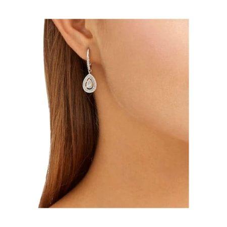 Angelic White Drop Earrings