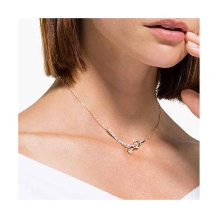 Swarovski Lifelong Heart Rose Bar Necklace