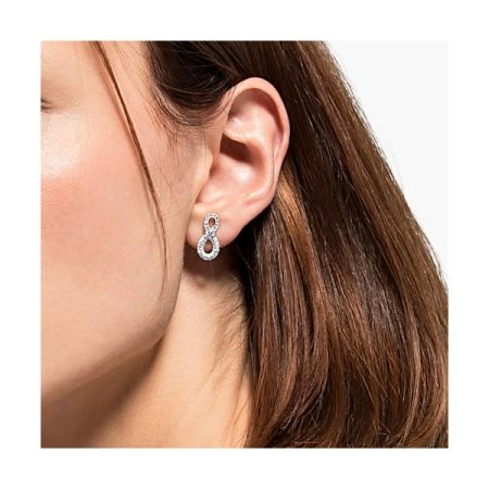 Swarovski Infinity Mini White Earrings