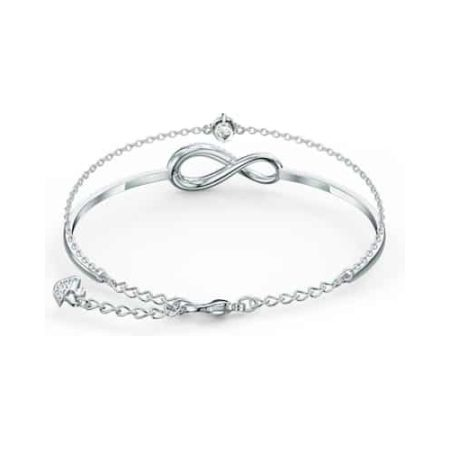 Infinity Chain White Bangle