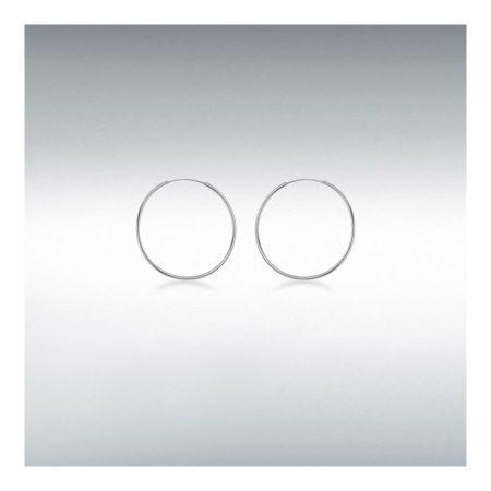 Sterling Silver Plain Hoop Earrings