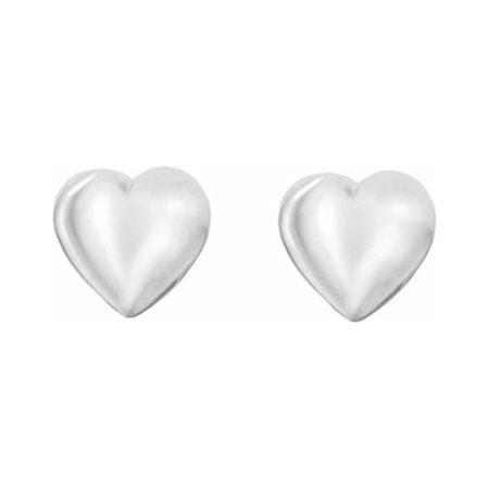 Silver 5mm Heart Kids Stud Earrings 8.55.7879