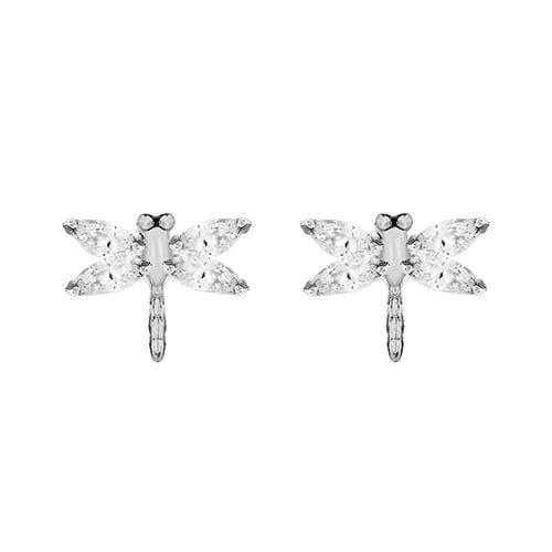 Silver CZ Dragonfly Earring 8.58.3499
