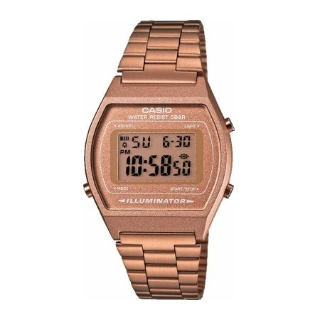 CASIO LADIES ROSE GOLD DIGITAL WATCH B640WC-5AEF
