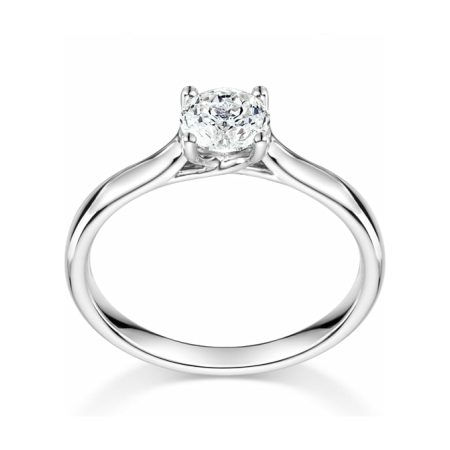 18ct Whie Gold Solitaire