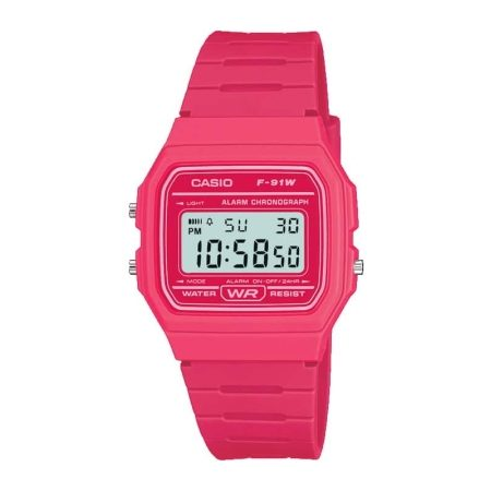 Casio Ladies' Digital Watch F-91WC-4AEF