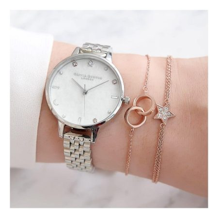 Olivia Burton Celestial Silver Bracelet Watch