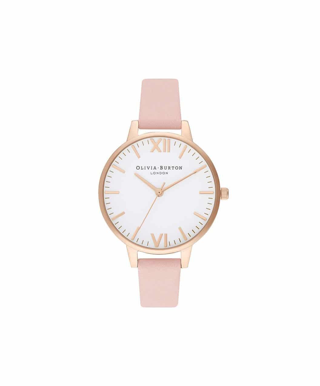 Olivia Burton Dusty Pink & Pale Gold Watch
