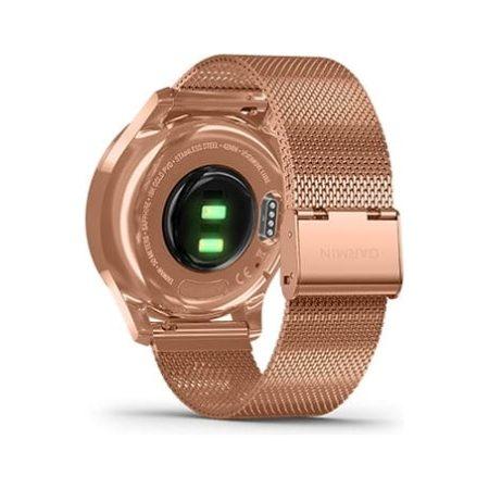 Garmin Vivomove Luxe Rose Gold Bluetooth Watch 010-02241-04 Back