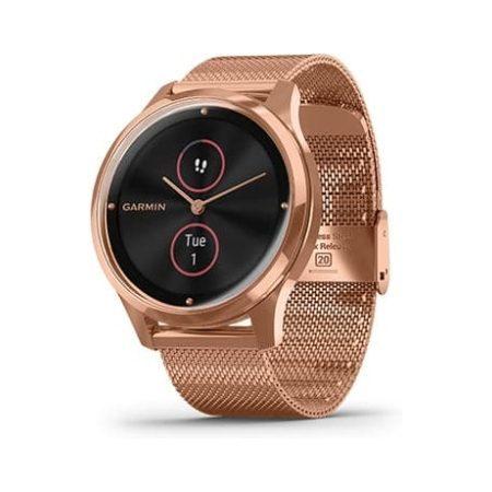 Garmin Vivomove Luxe Rose Gold Bluetooth Watch 010-02241-04 Profile