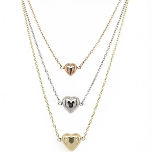 Yellow, White & Rose Gold Trio Necklace