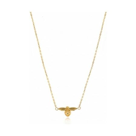 Yellow Gold Bee Necklace