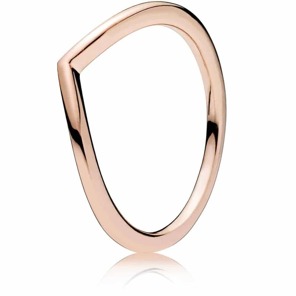 PANDORA Polished Wishbone Ring
