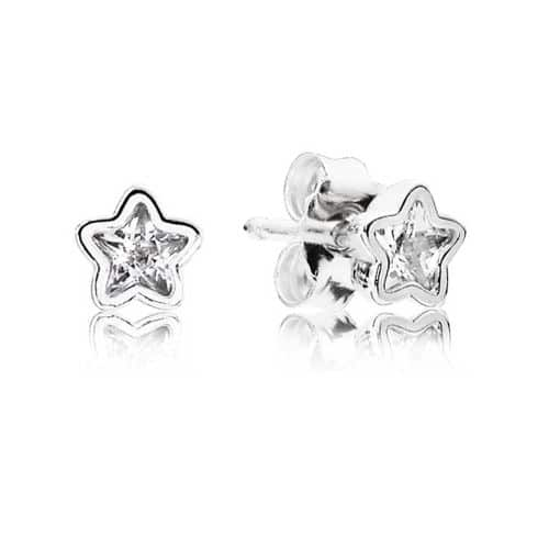 PANDORA Sparkling Star Stud Earrings