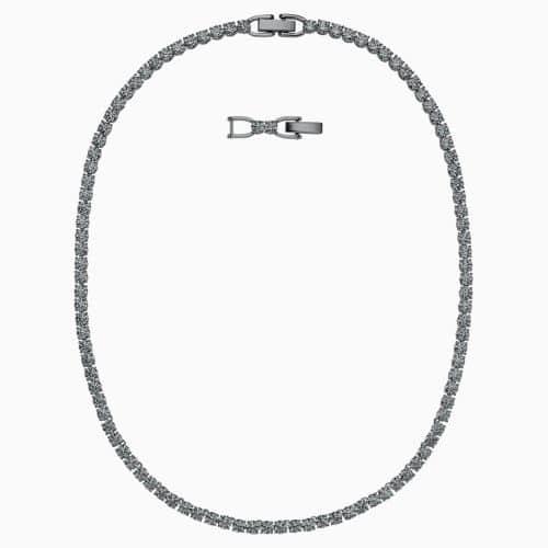 Swarovski Tennis Deluxe Grey Necklace