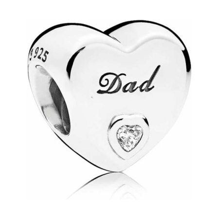 PANDORA Dad Heart Charm