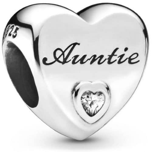 PANDORA Auntie Love Heart Charm