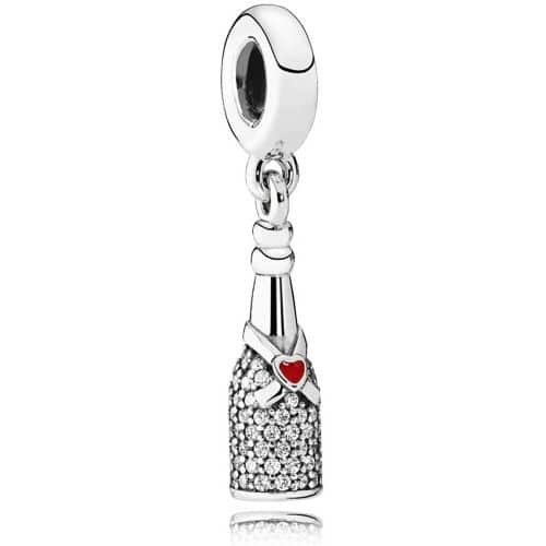 PANDORA Sparkling Wine Bottle Dangle Charm