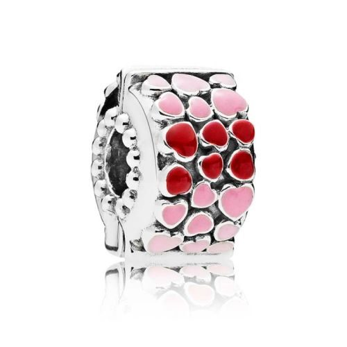 Pandora Red & Pink Hearts Clip Charm