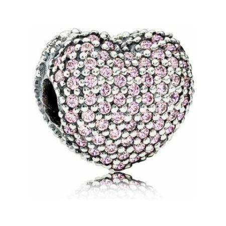 Pandora Pink Pave Heart Clip Charm
