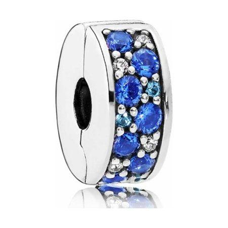 Pandora Blue Pave Clip Charm