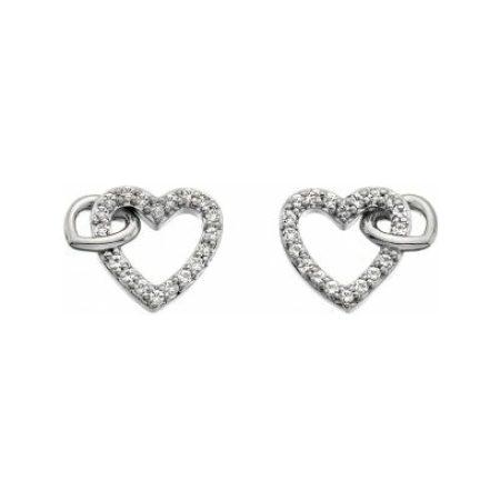 Hot Diamonds Togetherness Open Heart Earrings