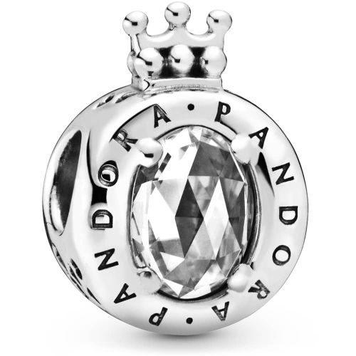 PANDORA Clear Sparkling Crown O Charm