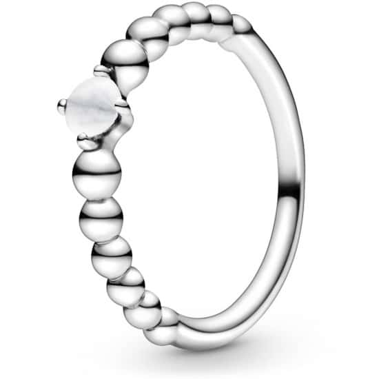 PANDORA April Birthstone Beaded Ring