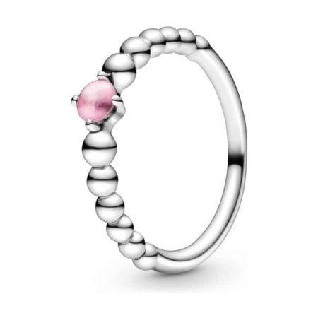 PANDORA October Birthstone Beaded Ring