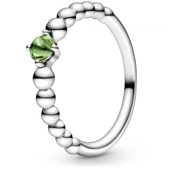 PANDORA August Birthstone Beaded Ring