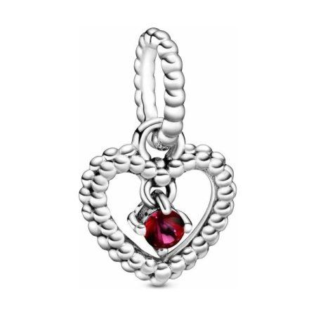 PANDORA July Birthstone Heart Dangle Charm