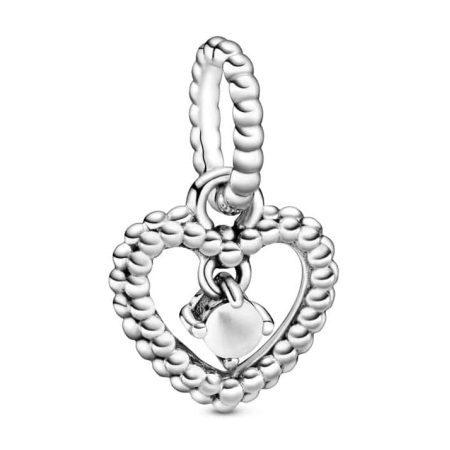 Birthstone Heart Dangle Charm