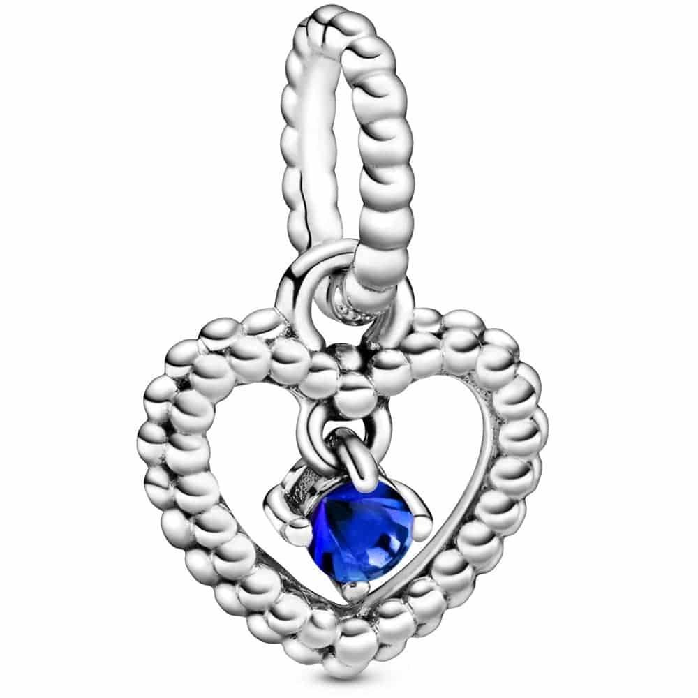 PANDORA March Birthstone Heart Dangle