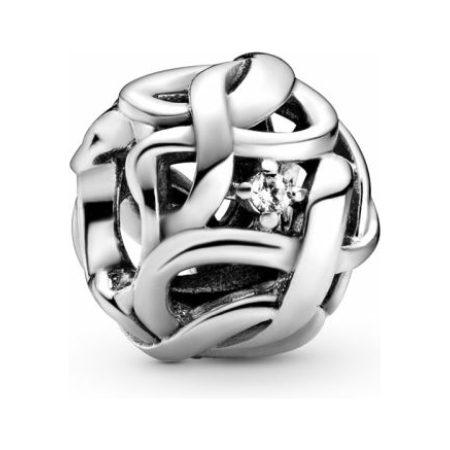 PANDORA Openwork Woven Infinity Charm
