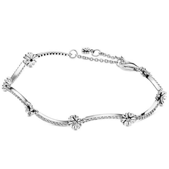 PANDORA Sparkling Daisy Flower Bracelet