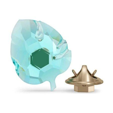 Swarovski Jungle Beats - Small Blue Leaf Magnet