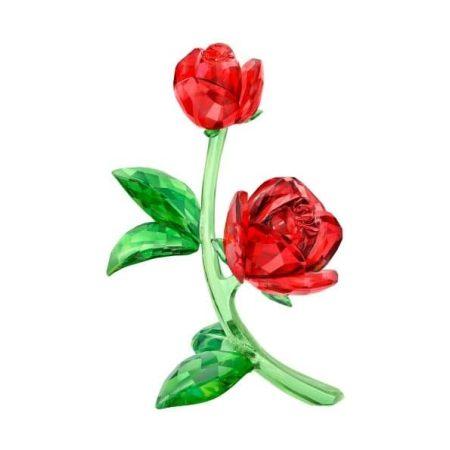 Swarovski Crystal Flowers Red Rose Ornament
