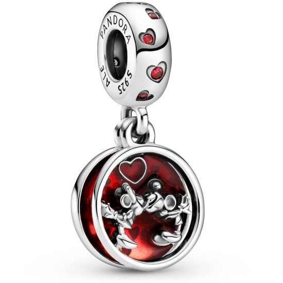 PANDORA Disney Mickey Mouse & Minnie Mouse Love and Kisses Dangle Charm