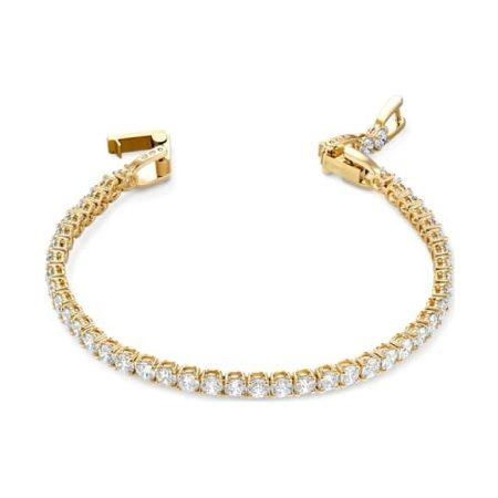 Tennis Deluxe Golden Bracelet by Swarovski