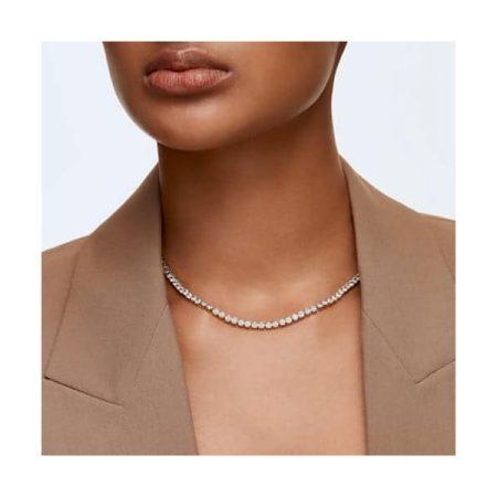Swarovski Tennis Deluxe Golden Necklace