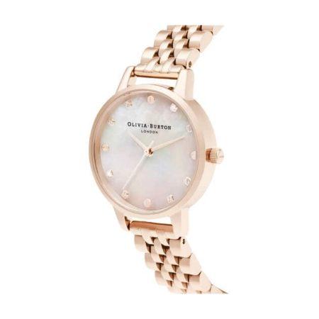 Olivia Burton Midi Mother Of Pearl Dial Rose Gold Bracelet Watch