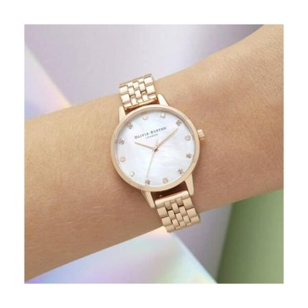 Mother Of Pearl Dial Rose Gold Bracelet Watch
