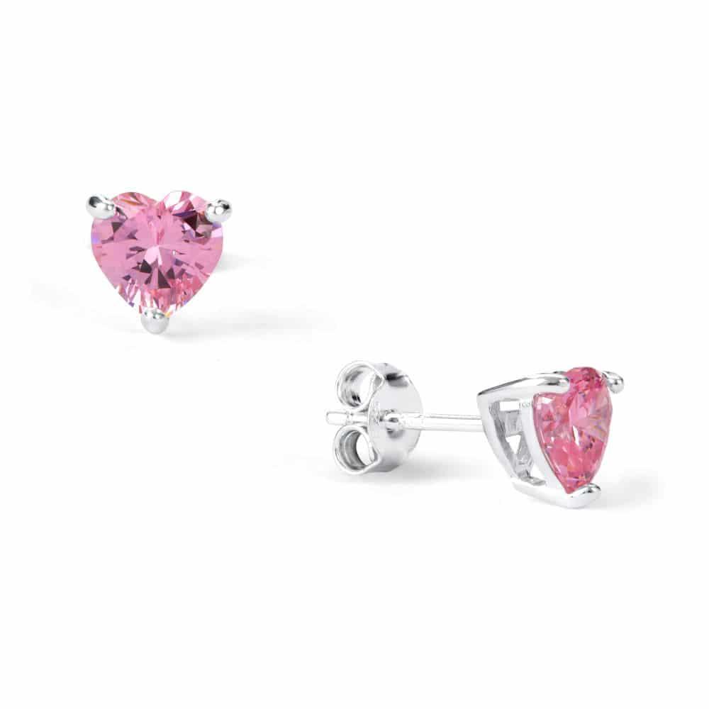Sugar Sugar Pink Heart Throb Stud Earrings